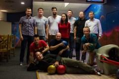 Firemní bowlingový turnaj, kde vládne vždy velká rivalita :-)