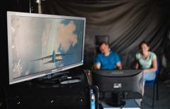 Letecký simulátor na oslavách 15 let LAMARKu