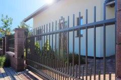 Samonosná vjezdová brána LAMARK, kovaný plot, motiv Miami
